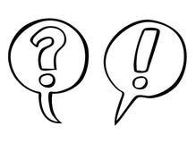 Vector de la pregunta y de las marcas de exclamación Imagen de archivo libre de regalías