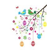Vector de la rama de Pascua stock de ilustración