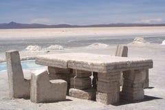 Vector de la sal en Salar Uyuni Imagenes de archivo