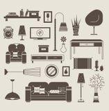 Vector de la sala de estar Fotografía de archivo libre de regalías