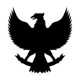Vector de la silueta de Garuda Fotografía de archivo libre de regalías
