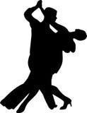 Vector de la silueta de la gente de la danza ilustración del vector