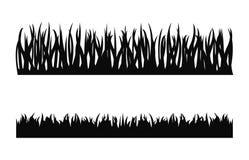 Vector de la silueta de la hierba Imágenes de archivo libres de regalías