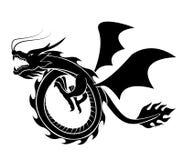 Vector de la silueta del dragón imagen de archivo libre de regalías