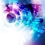 Vector de la solución de la tecnología del fondo del extracto del negocio global, ejemplo Foto de archivo libre de regalías