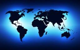 Vector de la solución de la tecnología del fondo del extracto del negocio global, ejemplo Foto de archivo