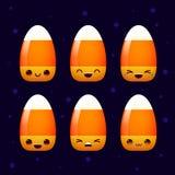 Vector de la sonrisa de las pastillas de caramelo de Halloween Imagen de archivo