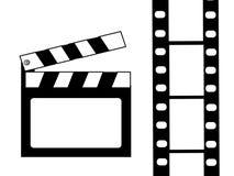 Vector de la tablilla y de la película libre illustration