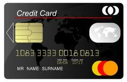 Vector de la tarjeta de crédito negro stock de ilustración