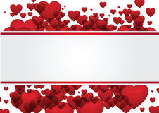 Vector de la tarjeta de felicitación de la tarjeta del día de San Valentín del corazón fotos de archivo