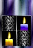 Vector de la tarjeta de la celebración de la vela Fotografía de archivo