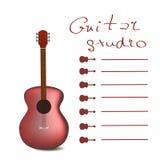 Vector de la tarjeta de la guitarra Fotos de archivo