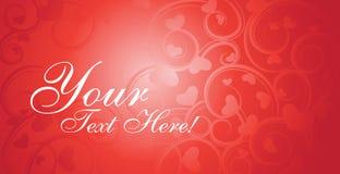 Vector de la tarjeta de la tarjeta del día de San Valentín Imagen de archivo libre de regalías