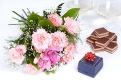 Vector de la tarjeta del día de San Valentín Fotografía de archivo