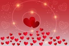 Vector de la tarjeta del día de tarjeta del día de San Valentín fotos de archivo libres de regalías