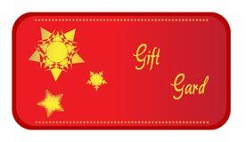 Vector de la tarjeta del regalo Imágenes de archivo libres de regalías