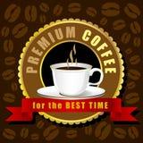 Vector de la taza de café, idea creativa del café del diseño Fotos de archivo libres de regalías