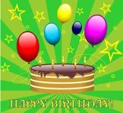 Vector de la torta de cumpleaños Fotografía de archivo libre de regalías