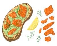 Vector de la tostada del aguacate libre illustration