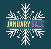 Vector de la venta de enero ilustración del vector