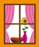 Vector de la ventana stock de ilustración