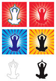 Vector de la yoga Imagen de archivo
