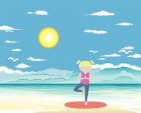 Vector de la yoga del bebé Imagen de archivo