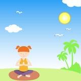 Vector de la yoga del bebé Foto de archivo libre de regalías