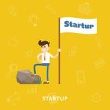 Vector de lanzamiento del proceso del proyecto del negocio plano libre illustration