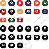 Vector de las bolas de billar, EPS, logotipo, icono, ejemplo de la silueta por los crafteroks para diversas aplicaciones Visite m libre illustration