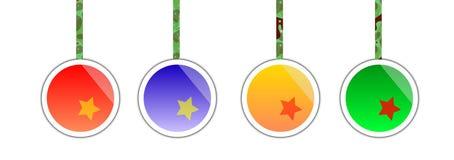 Vector de las bolas de la Navidad libre illustration
