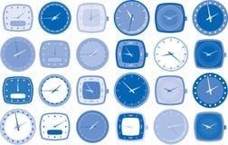 Vector de las caras del reloj o de reloj Fotos de archivo