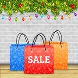 Vector de las compras de la Navidad Foto de archivo libre de regalías