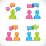 Vector de las conversaciones Imagen de archivo