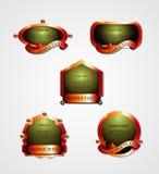 Vector de las escrituras de la etiqueta Fotografía de archivo libre de regalías