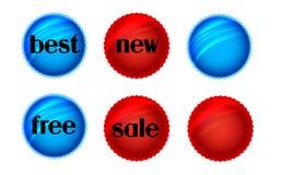 Vector de las etiquetas engomadas Foto de archivo libre de regalías