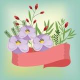 Vector de las flores Fotografía de archivo libre de regalías