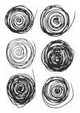Vector de las formas redondas del Grunge para la decoración, los cepillos y el otro caso Imágenes de archivo libres de regalías
