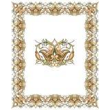 Vector de las fronteras del Viejo Mundo - marco tejado en estilo elegante decorativo del marco de las hojas y de las flores de la libre illustration