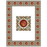 Vector de las fronteras del Viejo Mundo - marco tejado en estilo elegante decorativo del marco de las hojas y de las flores de la ilustración del vector