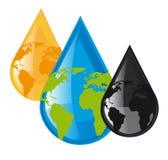 Vector de las gotas de agua stock de ilustración