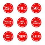 Vector de las insignias de la calidad y de la satisfacción garantizada stock de ilustración
