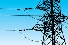 Vector de las líneas eléctricas Fotos de archivo
