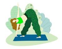 Vector de las muchachas de la yoga ilustración del vector