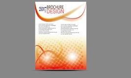 Vector de las plantillas del diseño del folleto del aviador Imagen de archivo libre de regalías