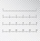 Vector de las reglas Herramienta de medición Centímetros y pulgadas de medición de la escala del cm de indicador de la métrica Es ilustración del vector