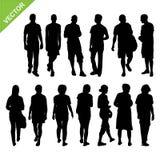 Vector de las siluetas de la gente Imágenes de archivo libres de regalías