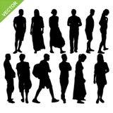 Vector de las siluetas de la gente Fotos de archivo libres de regalías