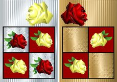 Vector de las tarjetas de felicitación Imagen de archivo