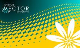 Vector de lenteillustratie met bloem Royalty-vrije Stock Foto